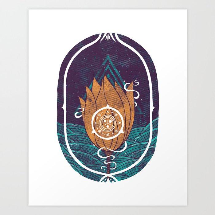 Pulsatilla Patens Art Print