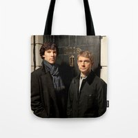 johnlock Tote Bags featuring Johnlock by Amélie Store