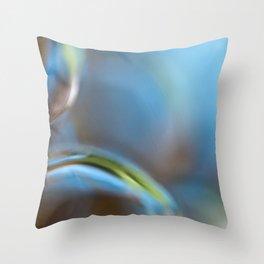 Glass Abstract  - JUSTART © Throw Pillow