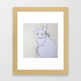 Rad Cat Framed Art Print