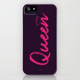 Pink Queen Design iPhone Case