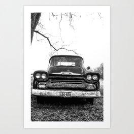 Chevy, Vintage Truck Art Print