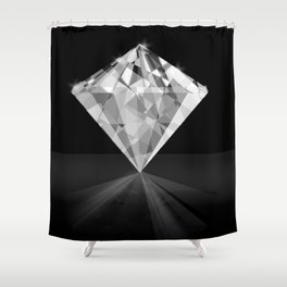 Shiny Diamond Gem Stone with a Sparkle of Light Shower Curtain