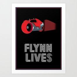 Flynn Lives Light Cycle Art Print