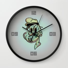 Brains and Spinach Wall Clock