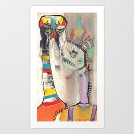 Cantina Patrons Art Print