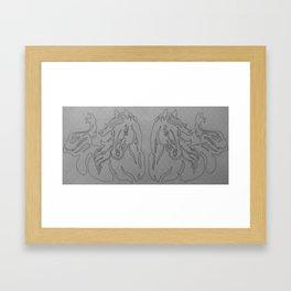 Mirrored Contour Framed Art Print