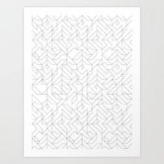 Geometric Camo Art Print