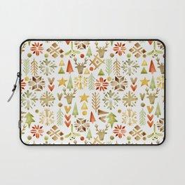 Winter forest scandinavian background Laptop Sleeve
