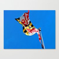 maryland Canvas Prints featuring Maryland Pride by Kelsey Hunt