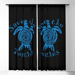 Save the turtles Blackout Curtain