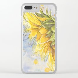 Helianthus annuus: Sunflower Abstraction Clear iPhone Case
