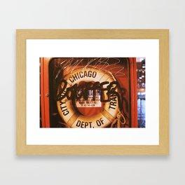 Chicago Scribbles Framed Art Print