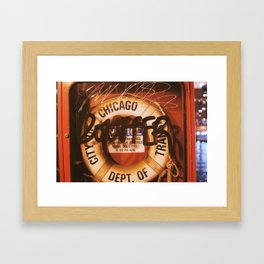 Chicago Scribbles Framed Art Print