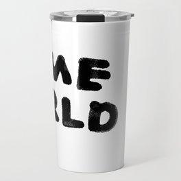 Crime World Logo Travel Mug