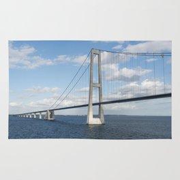 Suspension bridge Great Belt Denmark connecting the Zealand and Funen Rug