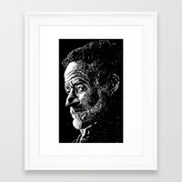 robin williams Framed Art Prints featuring Robin Williams by Campbell Travis