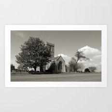 The Parish Church of St Andrew   B&W Art Print