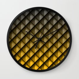 Draco Yellow Wall Clock