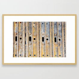 Rusty excavator caterpillar Framed Art Print