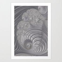Fascinating Fractal Fantasy Silver Art Print