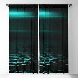 Blue sea at twilight Blackout Curtain
