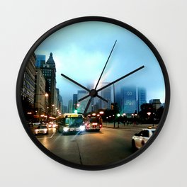 Streets of Chicago Wall Clock