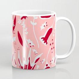 winter floral pink Coffee Mug