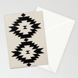 Southwestern Minimalism - Black Stationery Cards