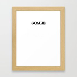 Lacrosse Goalie Last Line of Defense LAX Sport G.O.A.T. Lacrosse Player Lacrosse Game ReLAX Steeze Framed Art Print