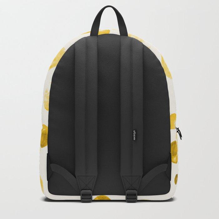 Yellow Watercolors Polka Dots Backpack