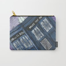 Swirling Purple Galaxies Police Box Carry-All Pouch