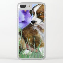 Baby Pictures Sheltie Puppy Clear iPhone Case
