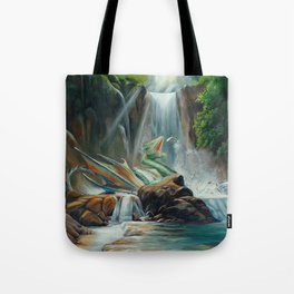 Fishing fantasy dragon Tote Bag