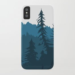 Tree Gradient Blue iPhone Case