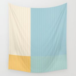 Color Block Lines III Wall Tapestry