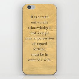 It is a truth universally acknowledged... iPhone Skin