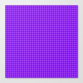 Purple Grid White Line Canvas Print