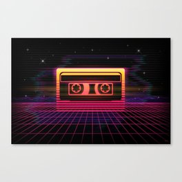 Sunset Cassette Canvas Print