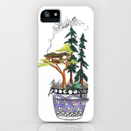Forest Tree House - Woodland Potted Plant iPhone Case