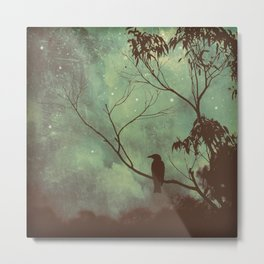 Watching Night Fall Metal Print
