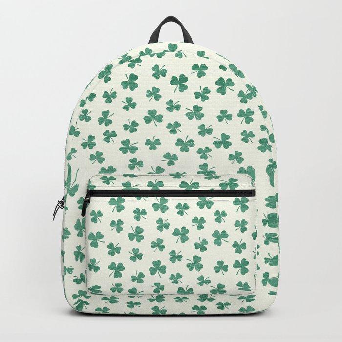 DANCING SHAMROCKS on cream Backpack