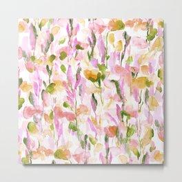 Resolve Pink Green Metal Print