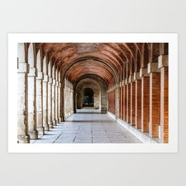 Arcade in Royal Palace of Aranjuez in Madrid Art Print