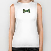bow Biker Tanks featuring Bow ties by Akwaflorell