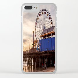 Santa Monica Pier Fun Clear iPhone Case