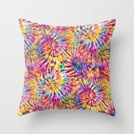 Sunny Tie Dye Throw Pillow