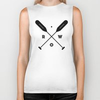 rowing Biker Tanks featuring Rowing x Oars by K Michelle