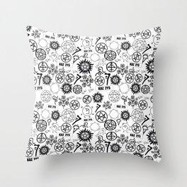 Supernatural Symbols Throw Pillow