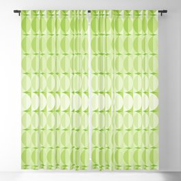 Leaves at springtime - a pattern in green Blackout Curtain